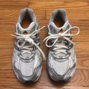 Women's Adidas white running shoes size 8